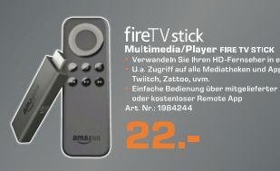 [Lokal Saturn Karlsruhe ab Montag] Amazon Fire TV Stickfür 22,-€