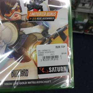 Saturn Wuppertal Overwatch X1/PS4 29,99€