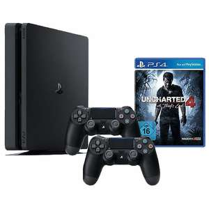 Sony PS4 Konsole Slim 1 TB inkl. Uncharted 4 und 2 Controller