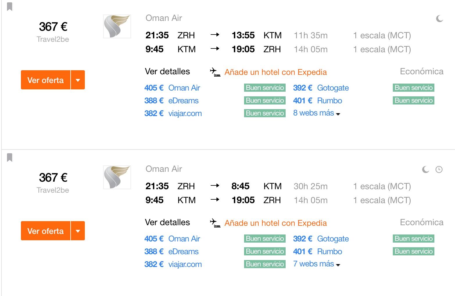 Wanderstiefel einpacken: Zürich - Nepal (ZRH-KTM) richtig günstig