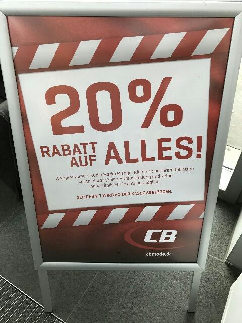 Jetzt! CB Mode 30% auf alle Marken (außer Mango) - LOKAL Lübeck Herrenholz