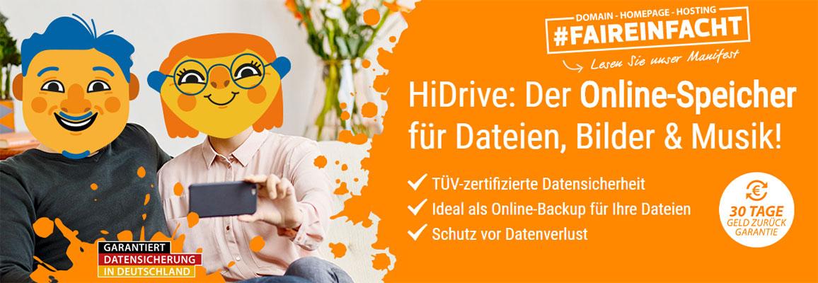 HiDrive Special: 250 GB Speicher für 2,50€ pro Monat