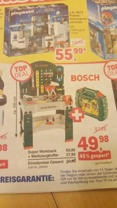 ToysRus Bundesweit - Bosch Werkbank mit Werkzeugkoffer