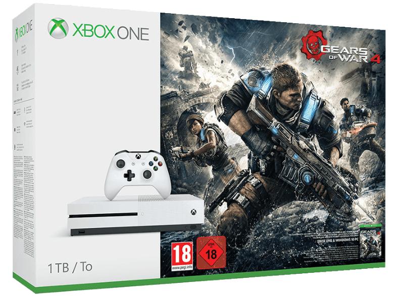 Xbox One S 1TB + Gears of War 4 + Dishonored 2 für 298,99€ @Saturn.de