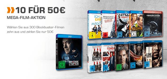 [saturn online] 10 Blu-Rays für 50€ Aktion