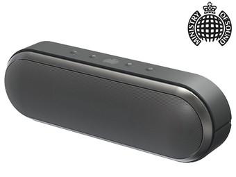 [IBOOD]Ministry of Sound Audio S Plus Bluetooth-Lautsprecher schwarz, spritzwassergeschützt mit Metallstativ für 35,90€ (inkl. Versand) statt 150€