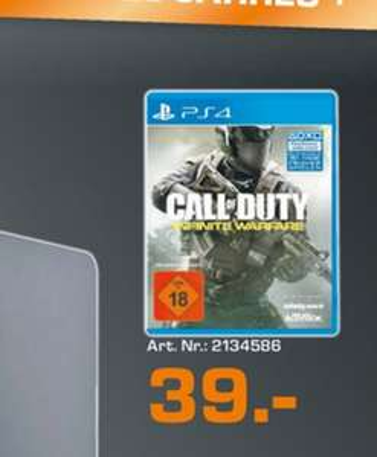 (Lokal) Call of Duty: Infinite Warfare (PS4) für 39€ @ Saturn Gummersbach