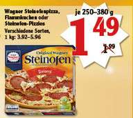 [Globus St. Wendel] Wagner Steinofen-Pizza, Flammkuchen oder Steinofen-Pizzies   1,49€
