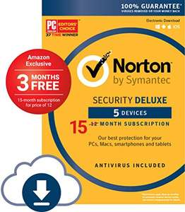 [Amazon.com] 15 Monate Norton Security Deluxe für 5 Geräte - Prime & Download