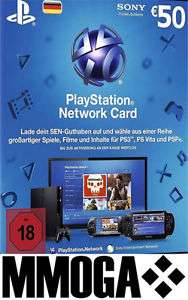 Playstation Network Card -50€ - für den deutschen PSN Shop