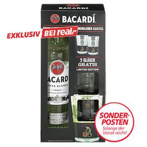 [real] Bacardi Rum Carta Blanca + 2 Gläser