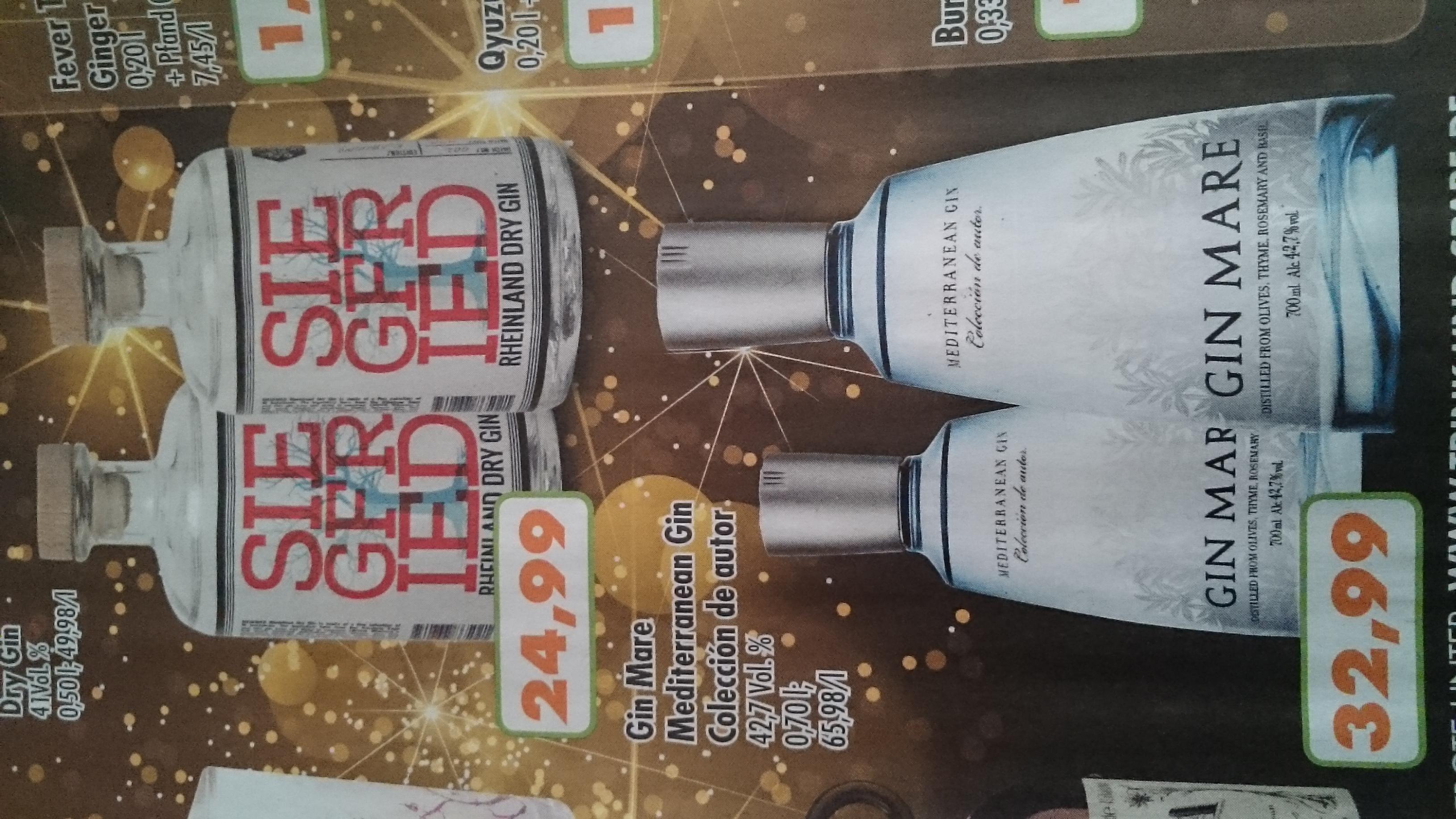 Regional NRW: Gin Mare Mediterranen Gin 0,7L / 42,7% bei Trink&Spare
