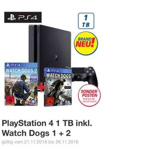 [Real] - PlayStation 4 1TB inkl. Watch Dogs 1 + 2