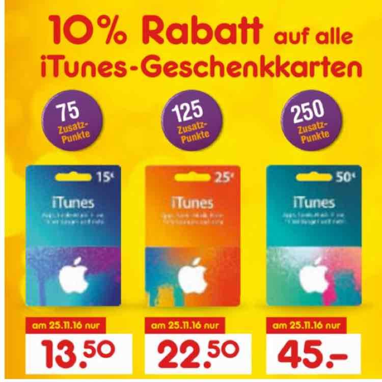 [Netto] 10% auf iTunes-Karten + DeutschlandCard Punkte