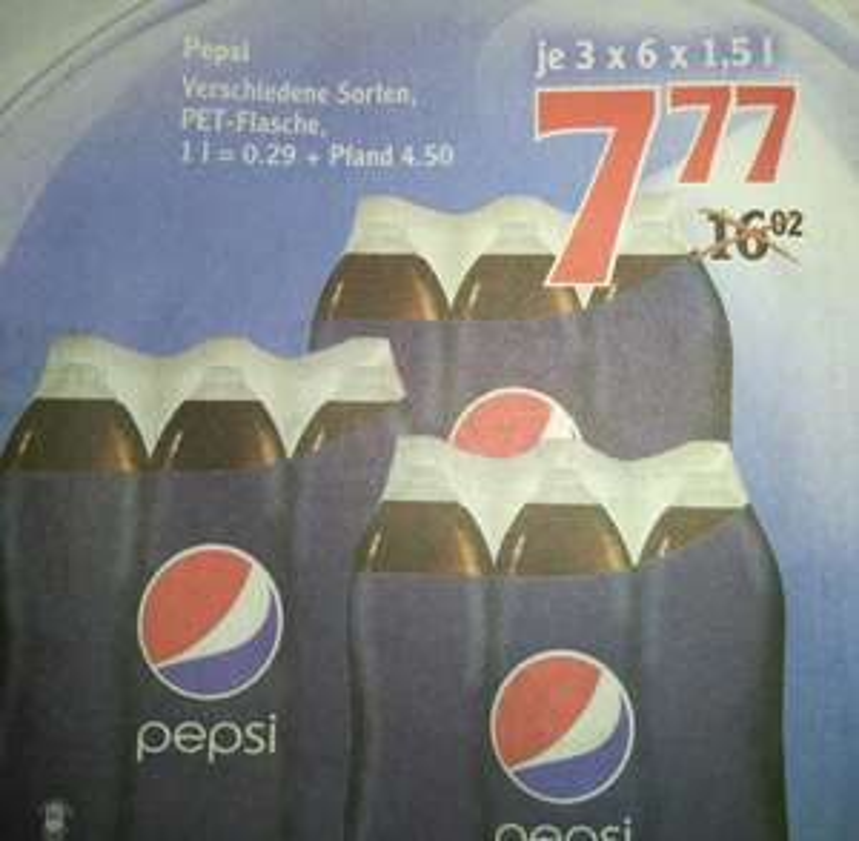 Pepsi 3 x 6er Träger versch. Sorten (Globus Homburg/Einöd)