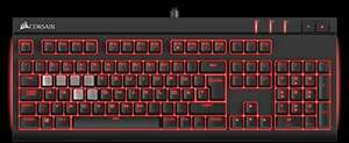 [amazon.de] Corsair Gaming DE STRAFE | Cherry MX Red Performance | Rote LED Beleuchtung | Mechanische Gaming Tastatur DE für 79,00€ inkl. Versand anstatt 120€