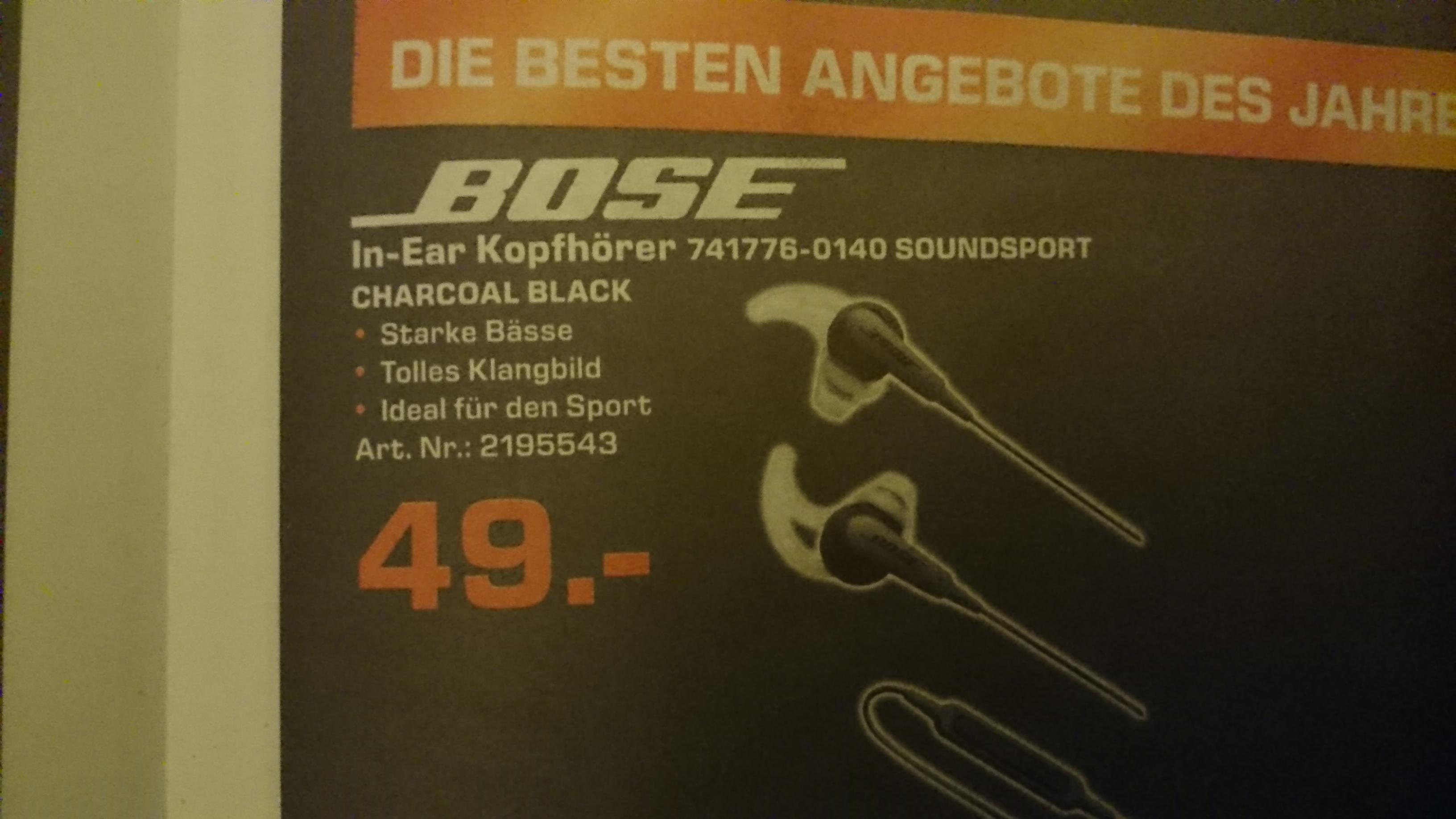 Lokal Saturn Moers: Bose In-Ear Kopfhörer Soundsport Charcoal Black