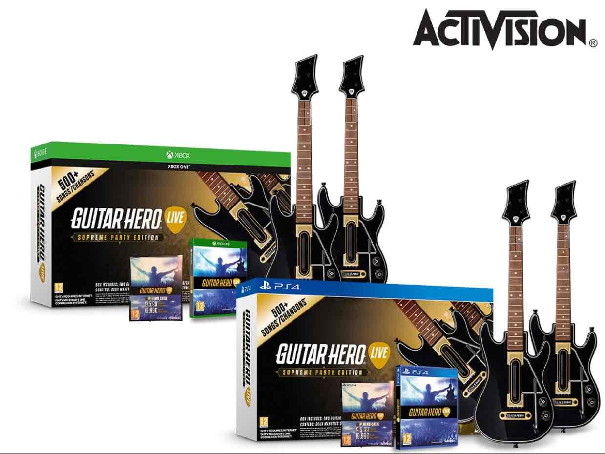 PlayStation 4 und Xbox One Guitar Hero Live SPE