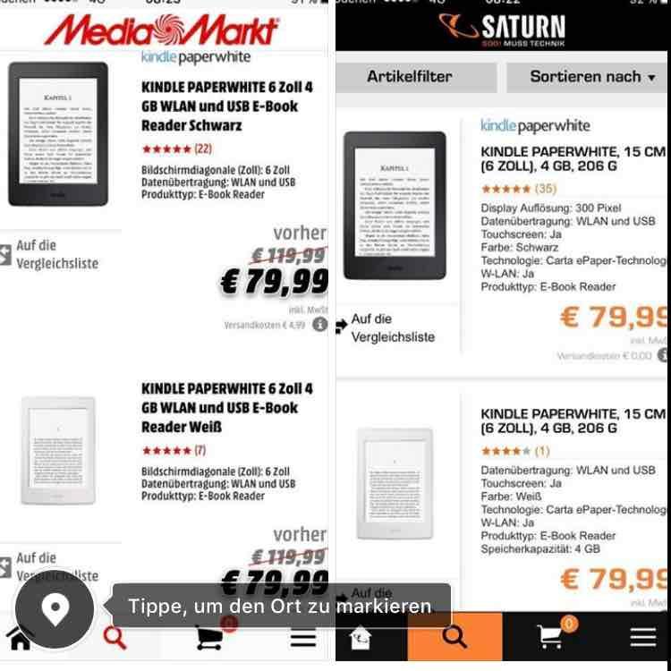 MM - Kindle Paperwhite Ebook Reader
