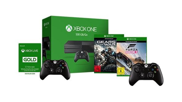 Xbox One 1TB Elite (1TB SSHD + Elite Controller) + 2ter Wireless Controller oder Forza Horizon 3 oder Gears of War 4 oder 12 Monate Gold für 239€ [Microsoft Store]
