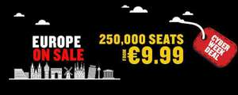 Ryanair 250000 Plätze ab 9.99 Euro