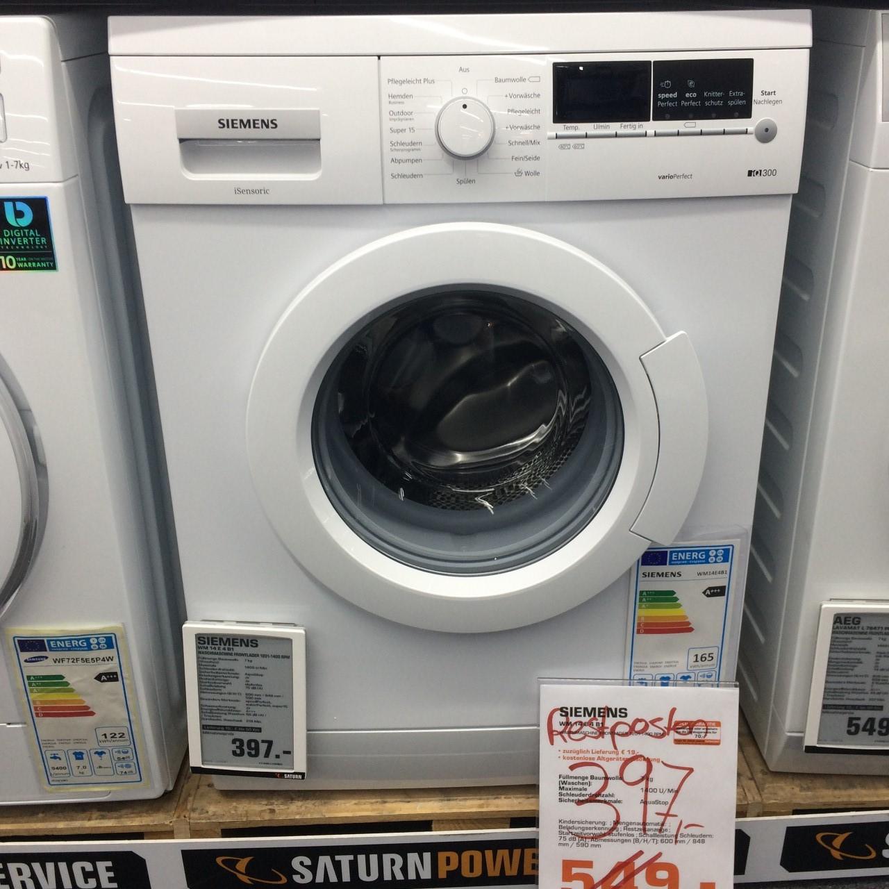 [Lokal Hannover am Ernst-August-Platz.] SIEMENS WM 14 E 4 B1  7 kg Waschmaschine