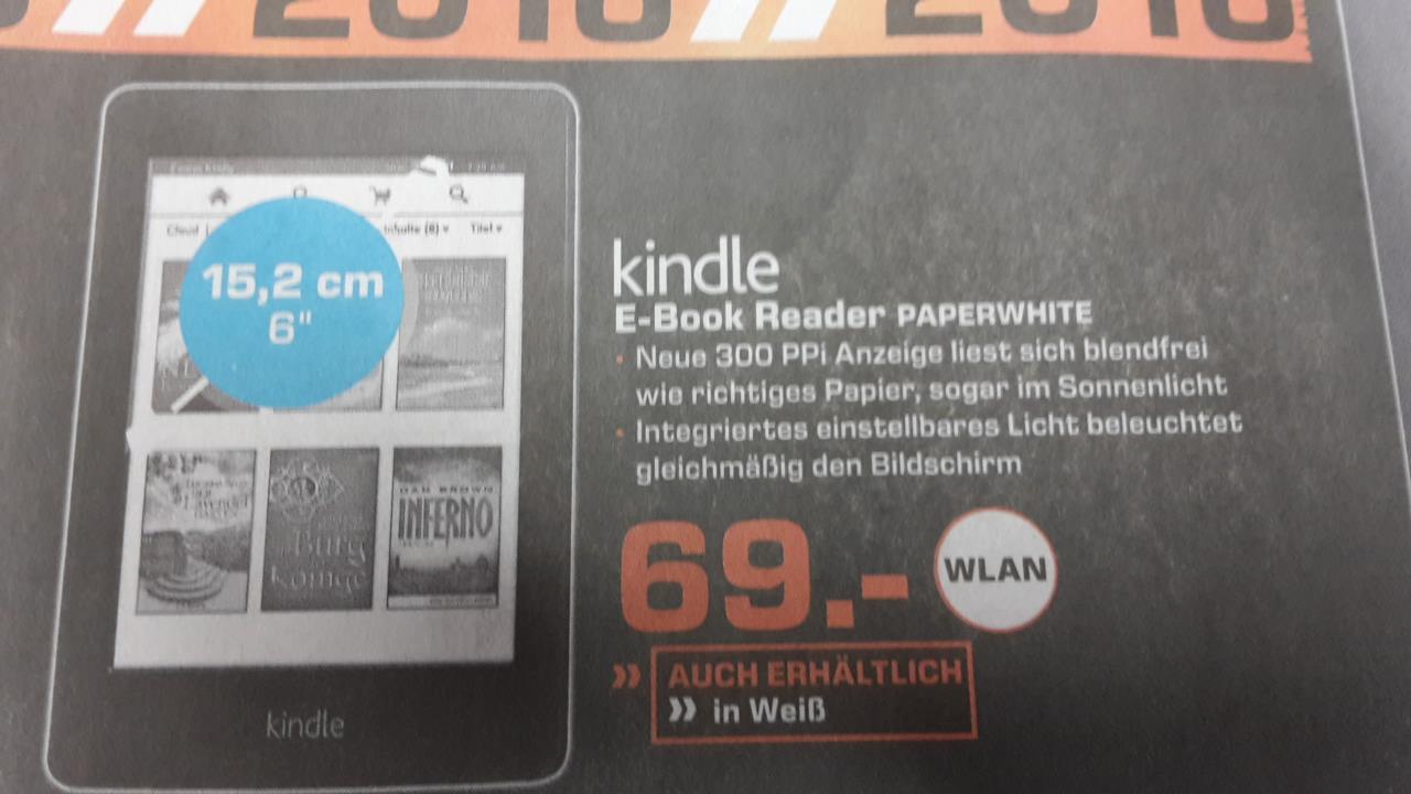 [Lokal Gelsenkirchen] Kindle Paperwhite für 69,00 € bei Saturn