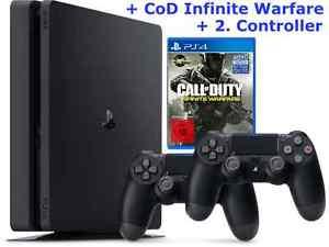 PS4 Bundle 1TB Slim + COD Infinite Warfare + 2. Controller nur 271,15€