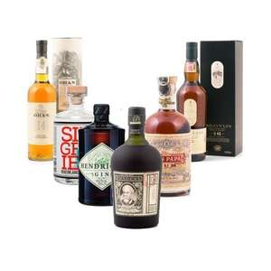 DELINERO's Choice: Bar-Set - Hendrick´s Gin, Siegfried Gin, Don Papa Rum, Botucal Reserva Exclusiva 12 Years Rum, Oban 14 Years & Lagavulin 16 Jahre für 145,99€ | delinero.de