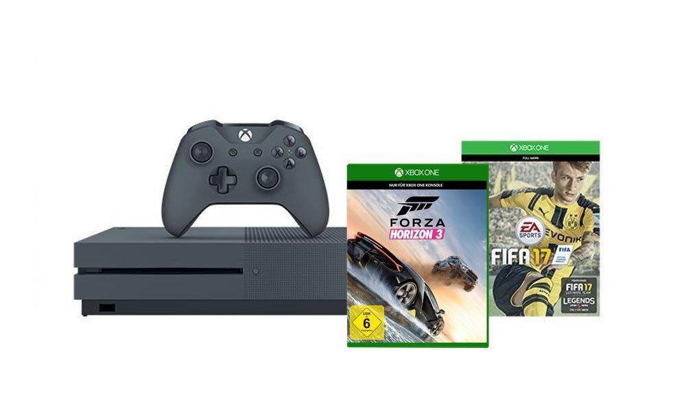 [Amazon] Microsoft Xbox One S 500 GB mit Fifa 17 und Forza Horizon 3 für 249 Euro