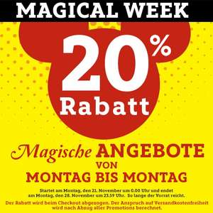 Gratis Mickey Maus Shopper ab 30€ MBW in der Magical Week @ Disney Store 20% Aktion