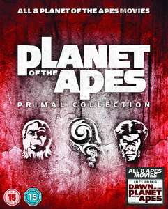 Planet der Affen: Primal Collection (Bluray) (Teile 1-8) (dt. Tonspur 1-7) ab 14,75€ [Zavvi]