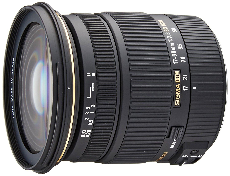 (Fotokoch) Sigma 17-50 mm F2,8 EX DC OS HSM-Objektiv (77 mm Filtergewinde) für Canon