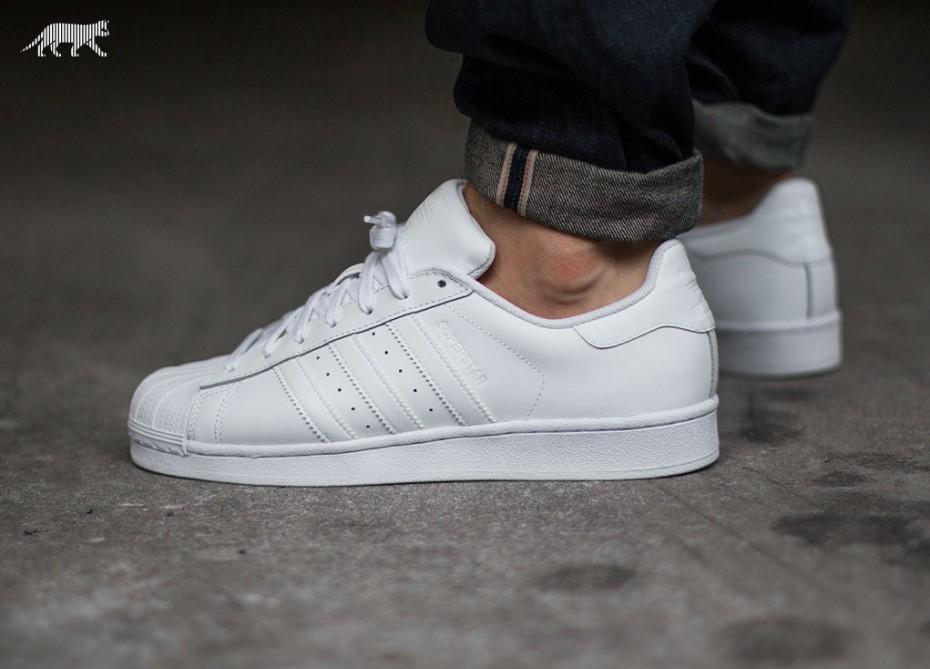[outlet46] Adidas Superstar Foundation all white für 44,99€
