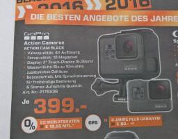 GoPro Hero 5 im Saturn Moers für 399€
