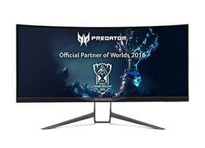 Acer Predator XR341CK 86 (34 Zoll) Curved Ultrawide Monitor 3440 x 1440, AMD FreeSync, QHD @amazon it