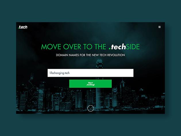 .tech Domain für 10 Jahre zum Preis von weniger als 4€ pro Jahr