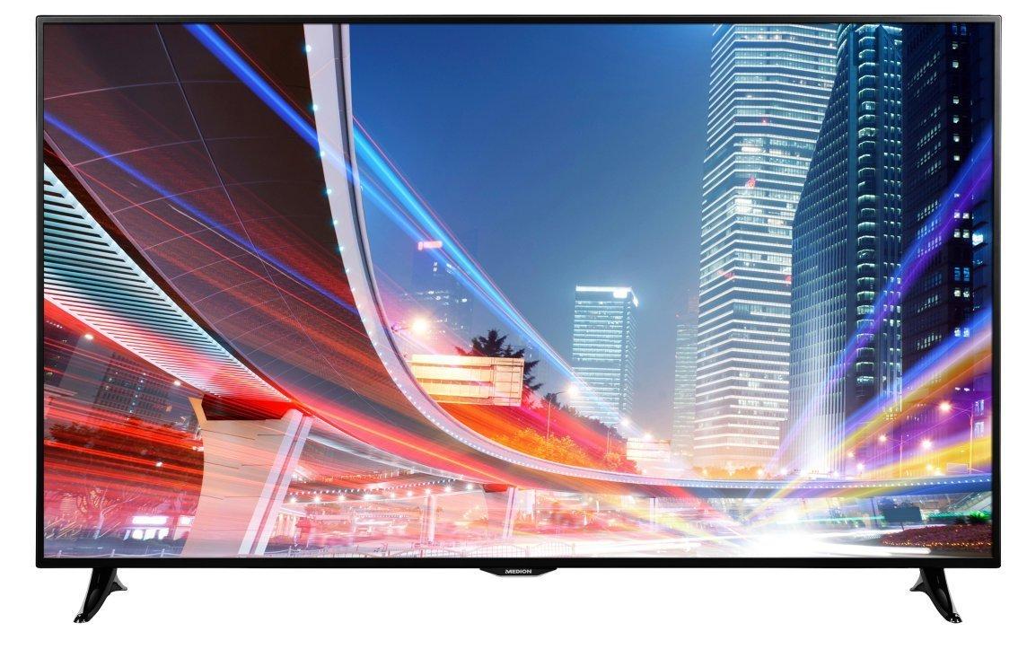 "MEDION LIFE X18046 (MD 31046) 163,8cm 65"" Zoll LCD-LED-Backlight Smart-TV, Full HD, HD Triple Tuner DVB-T/-C/-S2, 800 CMP, WLAN, AVS, PVR, HbbTV, EEK: A+, schwarz für 757 € @ medion.de"