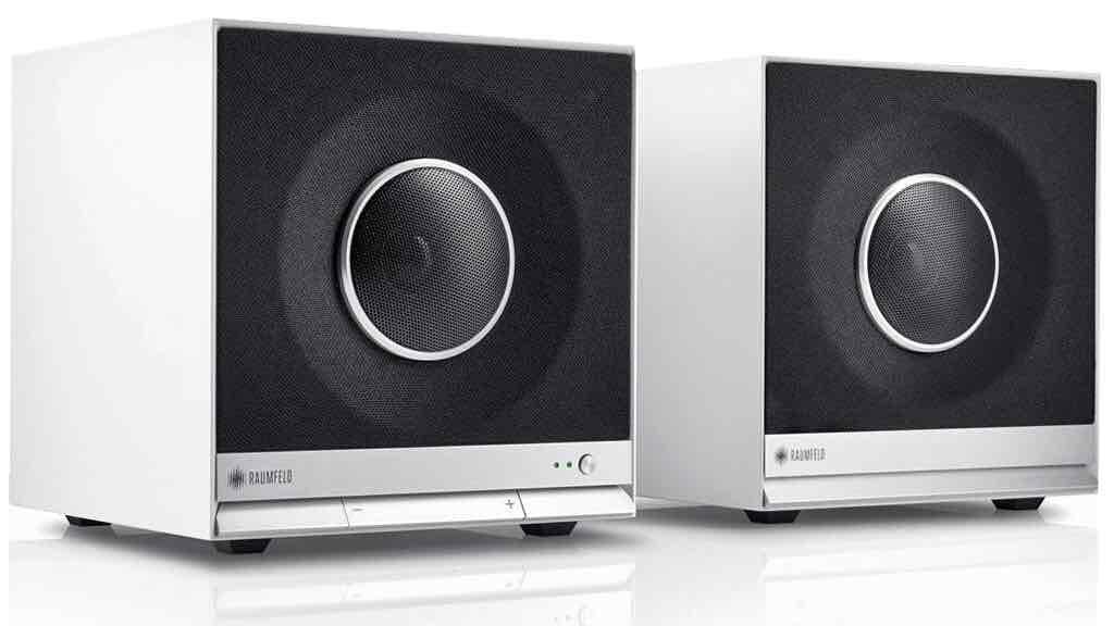 [Amazon] Raumfeld Stereo Cubes. WLAN Lautsprecher mit Direct -Line-in ohne Versatz! Ideal für TV, Beamer und Co!