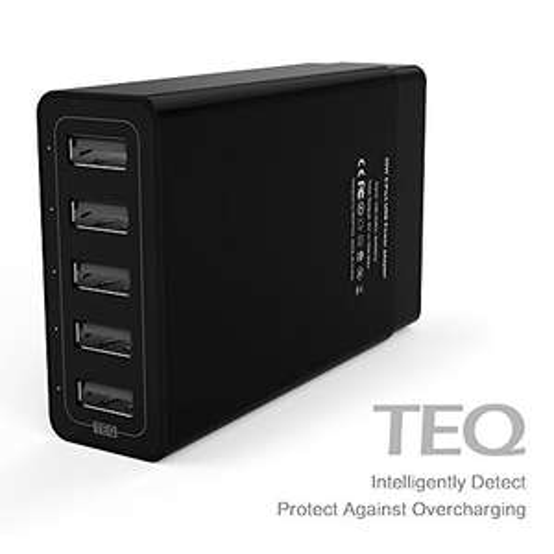 MEMTEQ® 5-Port USB Ladegerät 50W 5V/10A für 6,99€ [Amazon Prime]