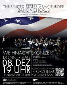 "[Pforzheim] 08.12.2016 Weihnachtskonzert von ""The United States Army Europe Band and Chorus"""