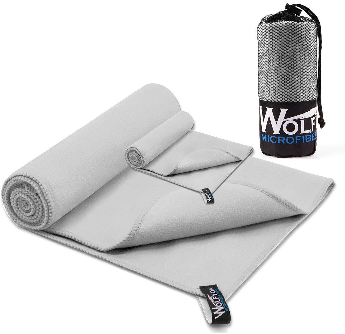 2 Handtücher aus Mikrofaser Wolfyok für Sport (148*75cm und 35*36cm) (amazon Prime)