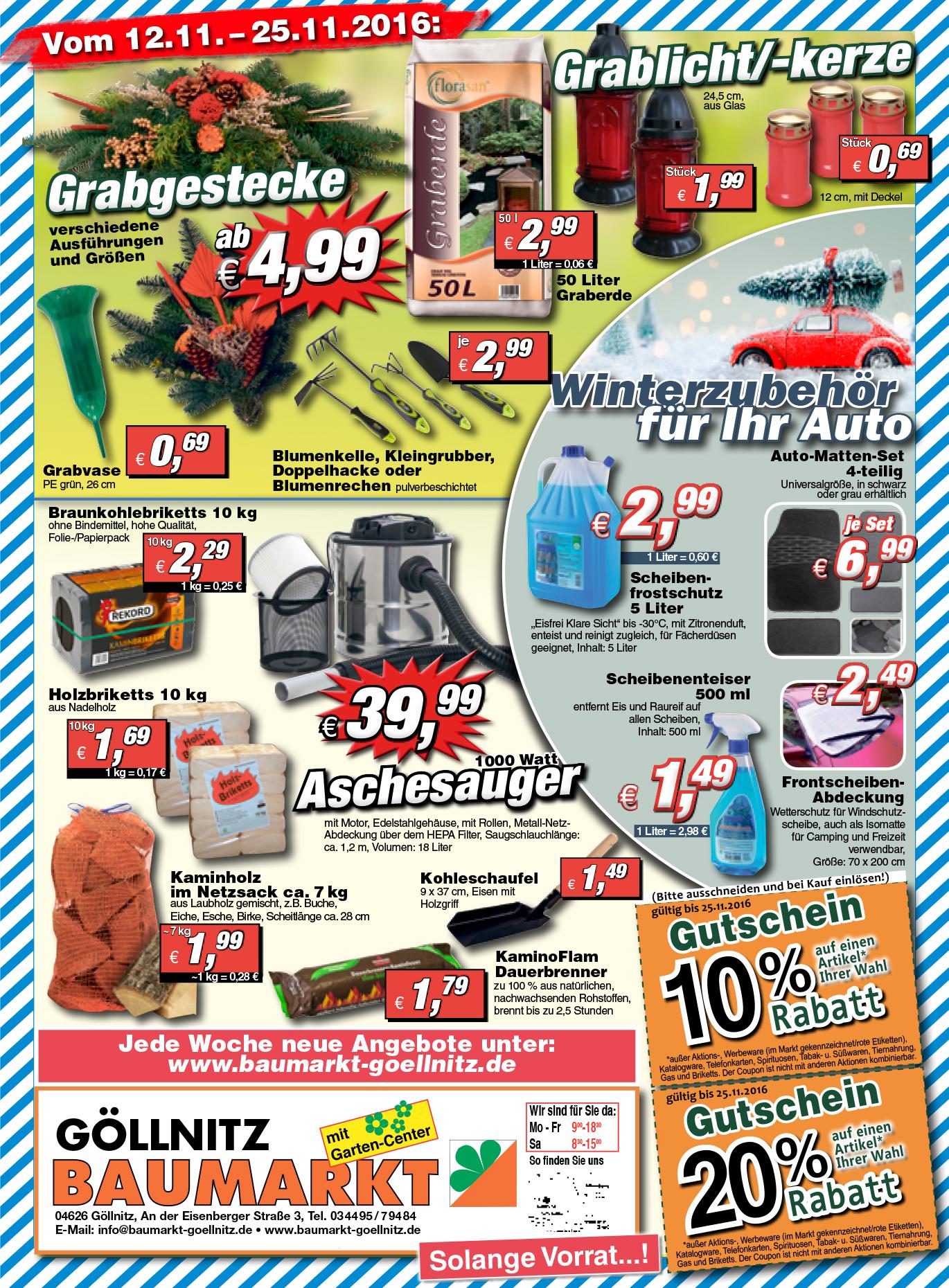 [lokal Göllnitz] 10 Kg Holzbriketts eckig 1,69EUR - [Bundesweit] Preisgarantie Hornbach 1,52 EUR