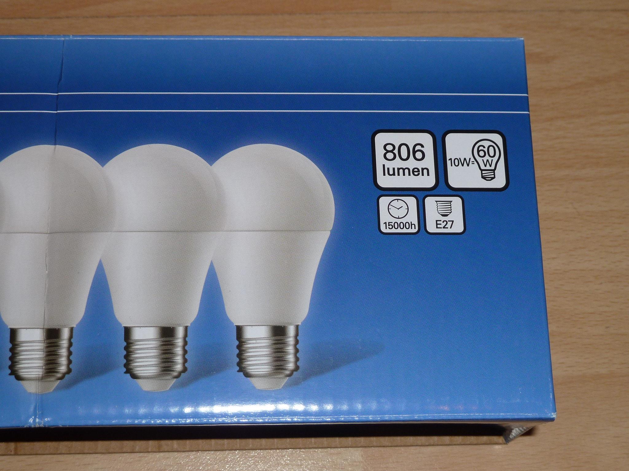 [Lokal FFM-Hornbach Niedereschbach] 5x LED E27 Lampe 806lm 2700K 10W