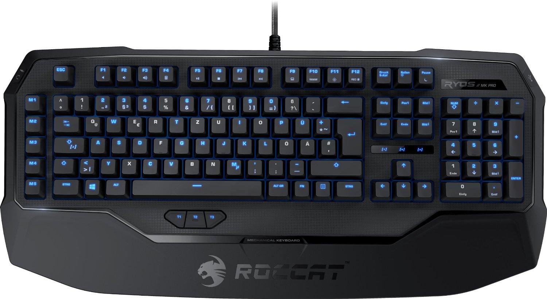 [amazon] Roccat Ryos MK Pro | Mechanische Gaming Tastatur mit Per-key Illumination | DE-Layout | Einzeltastenbeleuchtung | Mechanische Tasten | MX Key Switch braun oder rot  für 99,99€ anstatt 150€