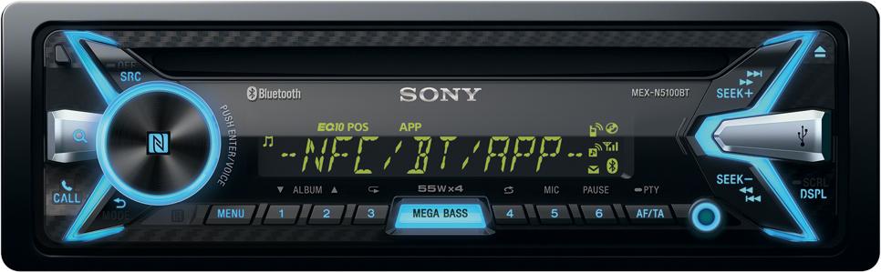[Amazon.de] Sony MEX-N5100BT Autoradio mit CD, USB, NFC, Bluetooth, MP3/AAC/WMA/FLAC, 4x 55 Watt, iOS/Android App-Steuerung, Freisprecheinrichtung inkl. externem Mikrofon für 84,99€