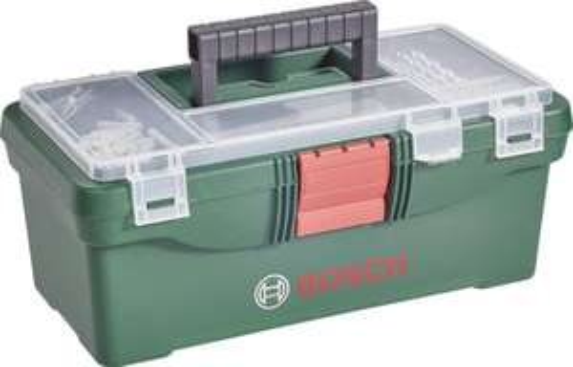 Bosch Toolbox Werkzeugkasten inkl. Bohrer- und Bit-Sortiment 59tlg. für 14,00€ [voelkner.de]]