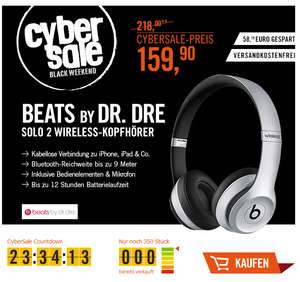 CyberSale Beats by Dr. Dre Solo2 Wireless Kopfhörer space grau