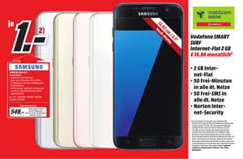Samsung Galaxy S7 32GB Media Markt Meerane [lokal] MD Vodafone 2GB/50Min/50SMS