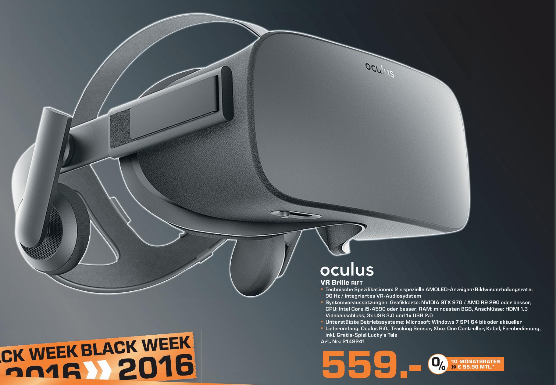 [Lokal: Saturn Bad Hom.]: Oculus VR Rift Brille